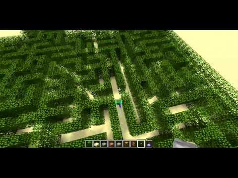 Maze-Solving Zombie -- Minecraft Trick