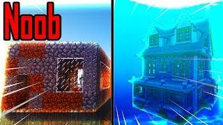 Thăm Nhà Noob Xây Nhà Hiện Đại Dưới Nước Trong Minecraft