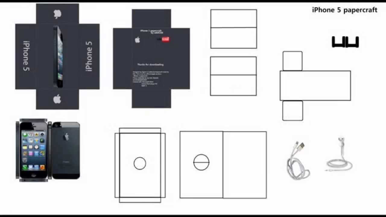 Как сделать из бумаги телефон айфон 6 из бумаги
