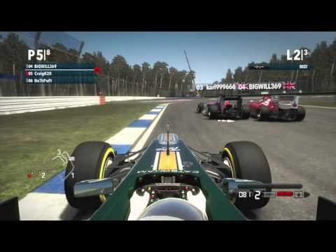 F1 2012 Party Madness - Germany Sprint Race (Penalties GALORE)
