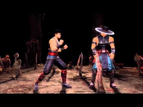 Mortal Kombat 9 Kung Lao Fatality 1, 2, Stage and Babality (HD)