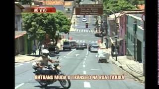 Tr�nsito na Rua Itajub�, no Bairro Floresta, sofre altera��es
