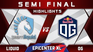 Liquid Vs Og [great Game] Epicenter Xl Major 2018 Highlights Dota 2