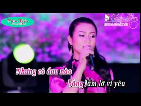 Karaoke  Xin Trả Cho Em _ Song ca với Cẩm Tiên