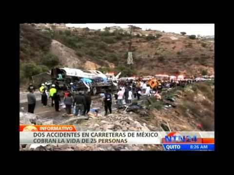 Dos accidentes en carreteras de México dejan al menos 25 muertos