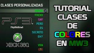 Tutorial Clases De Colores MW3 [PS3/XBOX360]