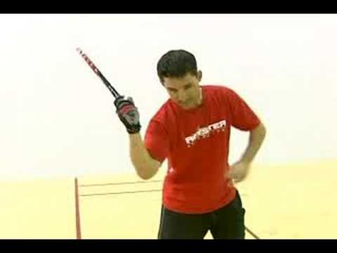 How to Play Racquetball : Swinging a Racquetball Racquet