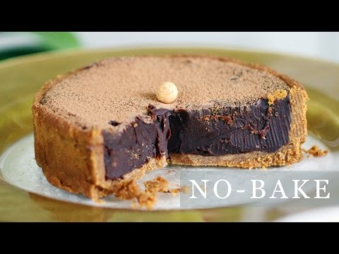 No-Bake Chocolate Pie Recipe - 5-Ingredient Tart 초코타르트 만들기 - 한글 자막