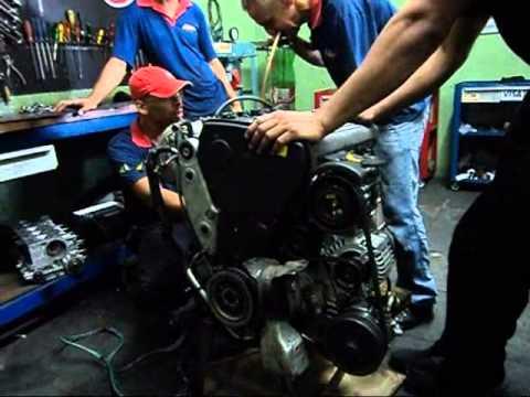Funcionando motor do Marea no chão