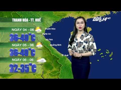 (VTC14)_ Thời tiết 12h ngày 03.06.2017