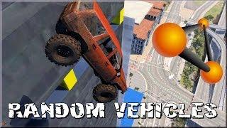 BeamNG Drive Alpha Random Vehicle #4 Crash Testing #91 HD