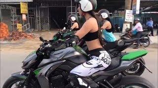 Ba Hotgirl chạy Z1000 về quê dã ngoại #1 | Hot girl VN ride Kawasaki Z1000 #1