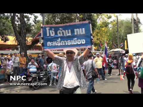 Thailand Protest Anti-Government March in Bangkok #4 29.03.2014
