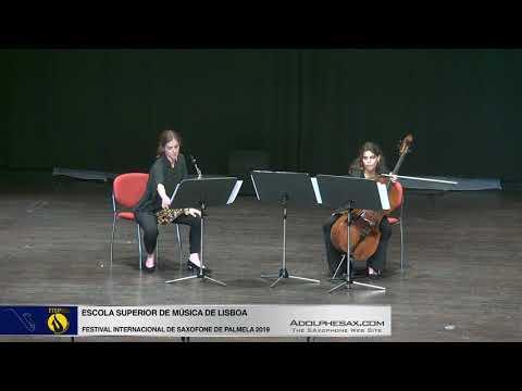 FISPalmela 2019 Escola Superior de Musica de Lisboa Sonate by Edison Denisov SAx & Cello