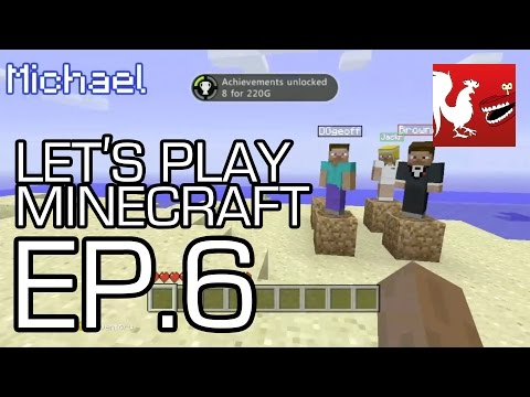 Let's Play Minecraft Part 6, Geoff, Jack, Michael, and Ray compete to see who can build and enter a Nether portal first. Michael also shows you how to unlock every achievement in Minecra...