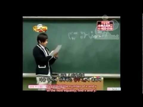 [CUT][ENG SUB] INFINITE L/Myungsoo Teaching Math