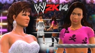 WWE 2K14 Miss Elizabeth Vs AJ Lee (WWE Women's