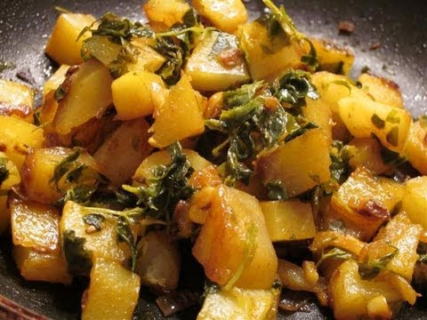 Methi Aloo (Fenugreek Potato Dish)