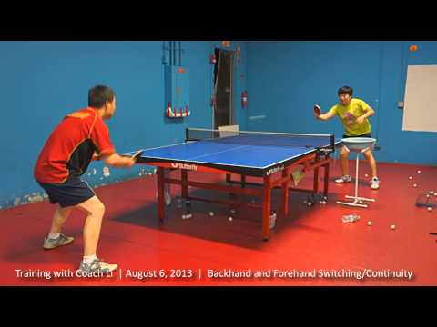 Training with Coach Li: Backhand and Forehand Switching and Continuity