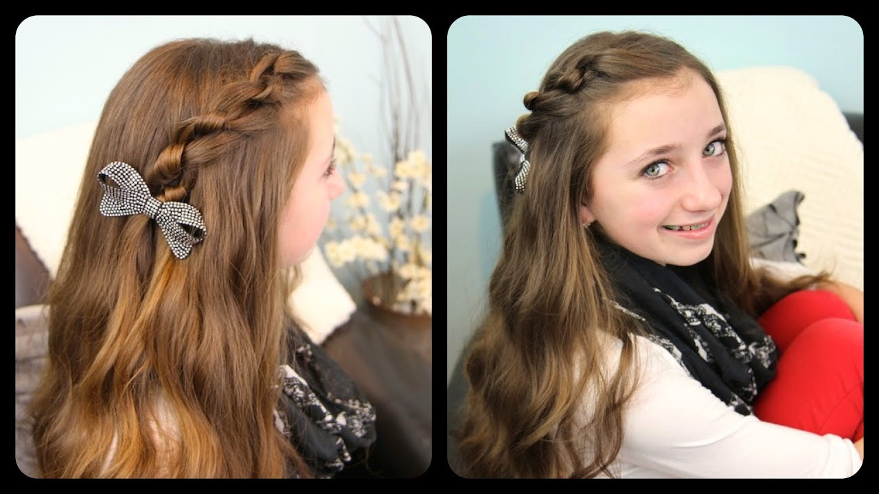 The Knotted Pullback Cute Girls Hairstyles - YouTube