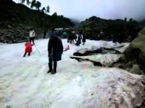 Snow falled at gulmarg in June