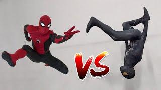 Spiderman vs Black Spiderman In Real Life (Symbiote)   Parkour vs Tricking