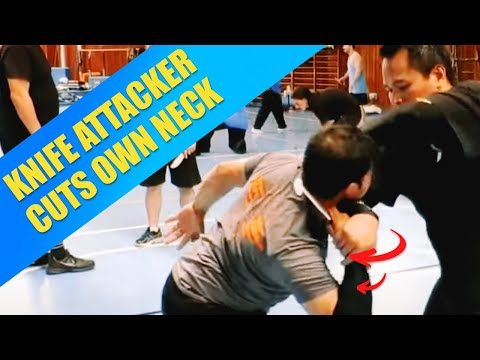 Silat Suffian Bela Diri - Knife Defense (Self cutting)
