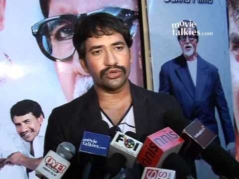 Gulshan Grover, Dinesh Lal Yadav and Deepak Sawant at the first look event of 'Shrimati Netaji'