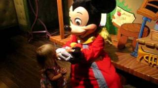 Hugging Mickey Mouse At Disneyland