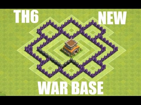 Clash of Clans - AWESOME TH6 WAR BASE - ANTI GIANT (UPDATE COMPATIBLE!) SPEEDBUILD