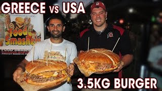 3.5KG GREEK BURGER CHALLENGE IN ATHENS!!