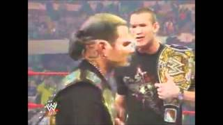 Randy Orton Tries To Show His Respects To Jeff Hardy Raw