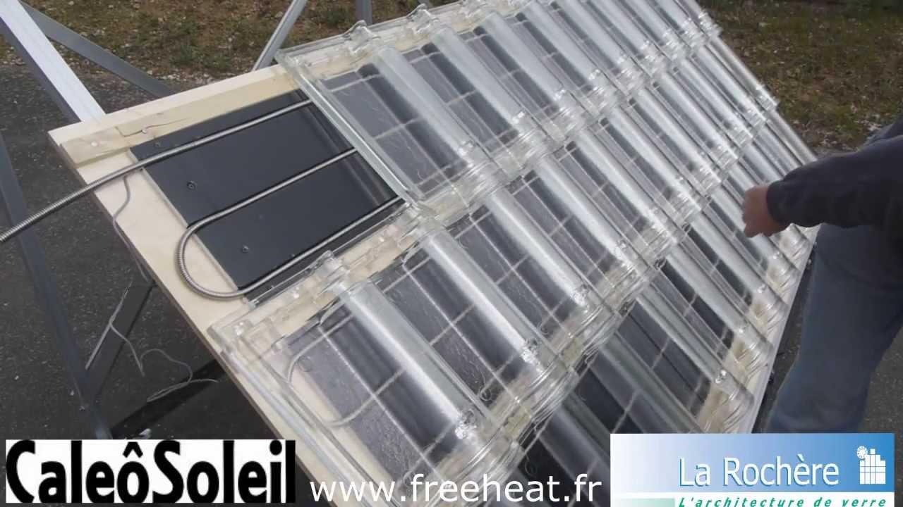 tuile solaire thermique caleosoleil panneau solaire en tuiles de verre chauffage solaire. Black Bedroom Furniture Sets. Home Design Ideas