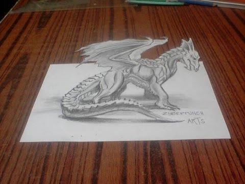 3d Dragon Drawing By Joseph Oca Youtube