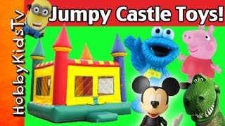 JUMPY CASTLE! Peppa Pig, Rex, Mickey Mouse, Cookie Monster