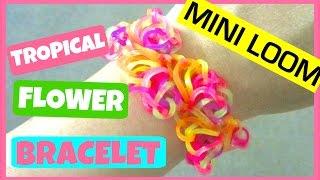 Rainbow Loom Bracelet Tropical Flowers Half Flower Burst