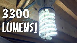 OUYIDE Spiral LED 250 Watt Equivalent 3300LM 30W Daylight 6000K E26 Medium Screw Base LED Bulb