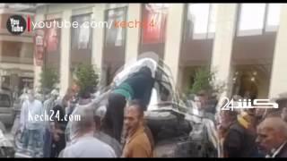 إنقلاب سيارة بمراكش بسبب فتاة