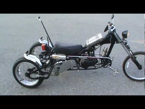 homemade moped trike first ride