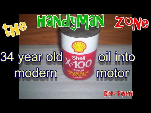 34 year oil oil used in modern engine, bonus how to use waste oil
