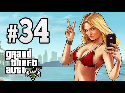 Grand Theft Auto V [GTA 5] Walkthrough - Part 34 Caida Libre XBOX360/PS3 HD