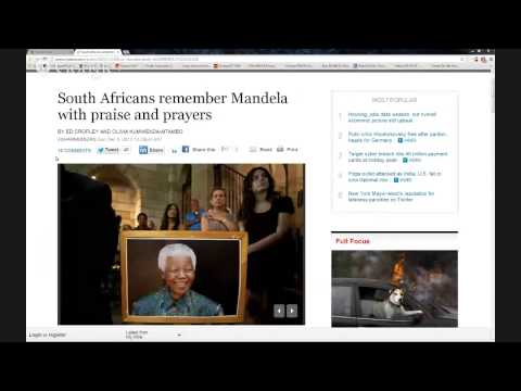 News & Politics (South Africans remember Mandela with praise and prayers)