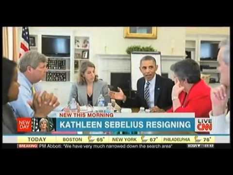 [news today tv] kathleen sebelius resigning 11/04/2014