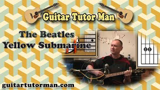 Yellow Submarine The Beatles Acoustic Guitar Lesson (easy)