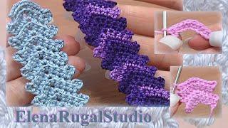 Classic Crochet Cord Lace Stripe Tutorial 1