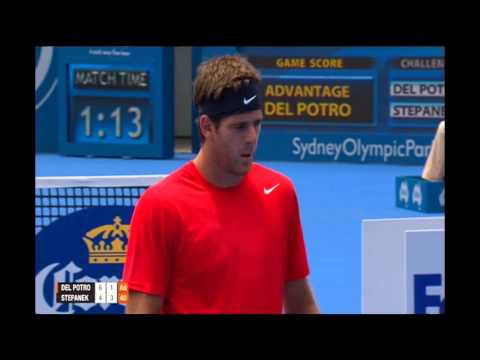 DEL POTRO (ARG) vs STEPANEK (CZE) QUARTER FINALS FULL MATCH Apia International Sydney
