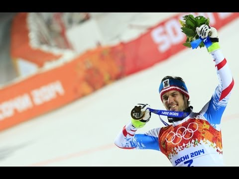 Mario Matt Of Austria Wins Olympic Slalom