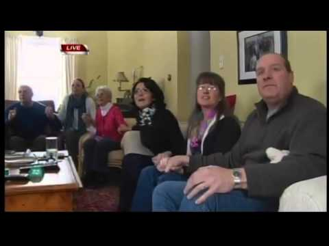 RAW VIDEO: Mikaela Shiffrin's family watches in Lanesboro