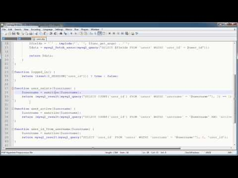 PHP Tutorials: Register &amp; Login (Part 10): Registration Form and Validation (Part 4)