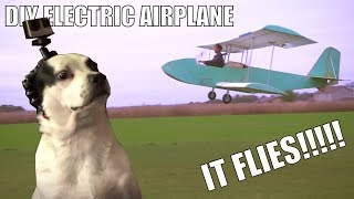 My HomeMade electric plane Really flies!!!! (short hops) part7
